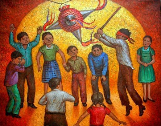 Картина Дети разбивают Пиньяту