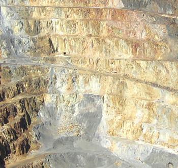 Карьерная добыча полезных ископаемых в штате Сонора. Мексика