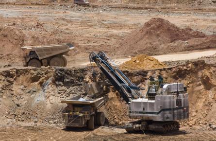 Карьерная разработка залежей полезных ископаемых в Сакатекас. Мексика