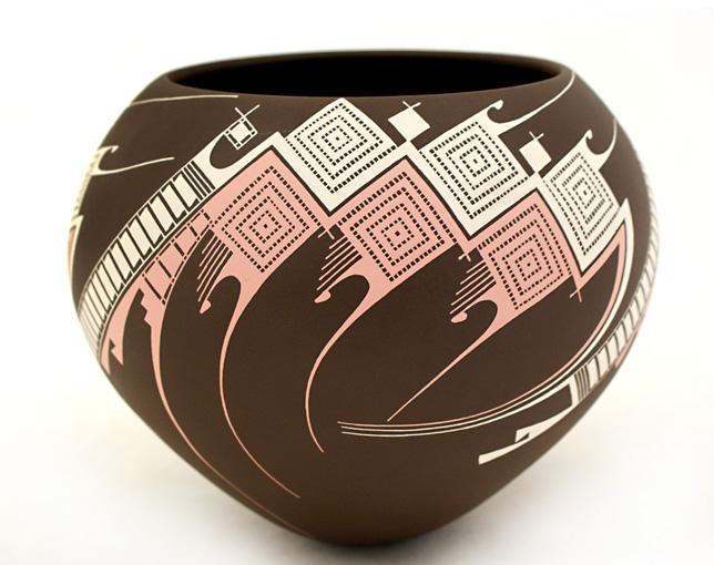 Оригинальный керамический сосуд Мата Ортис
