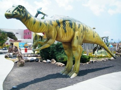 Динозавры в Парке Рейлете в Мексике. Парк и достопримечательности
