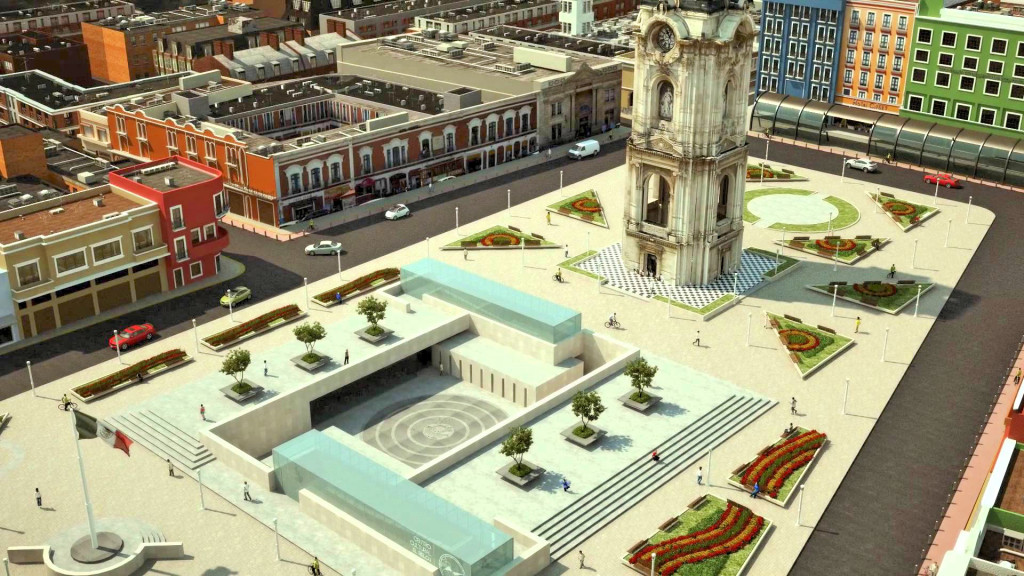 Площадь независимости в Пачука де Сото. ИдальгоПлощадь независимости в Пачука де Сото. Идальго. Пешком по Мексике