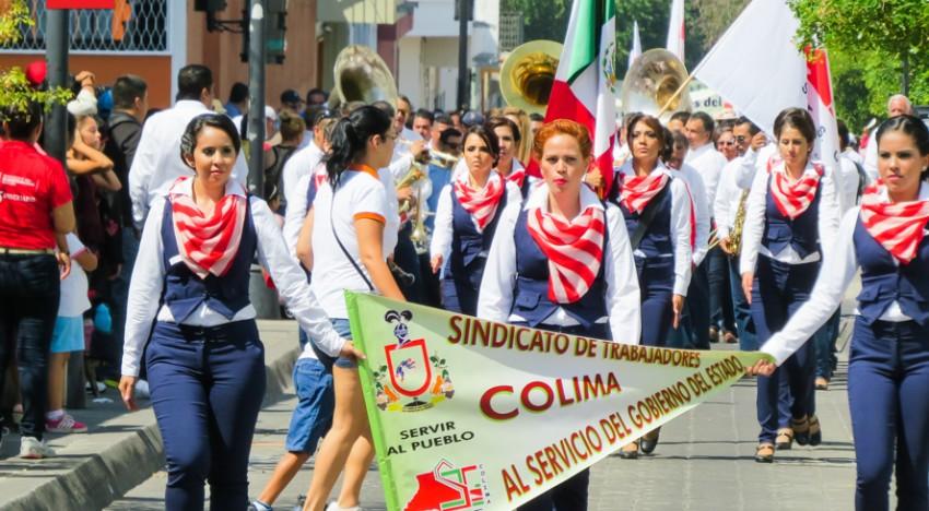 Профсоюз работников Колимы на праздновании дня труда 1 мая в Мексике