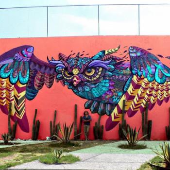 Стрит арт на улицах Сантьяго де Керетаро