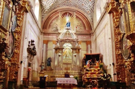 Убранство Церкви Святой Розыв Сантьяго де Керетаро