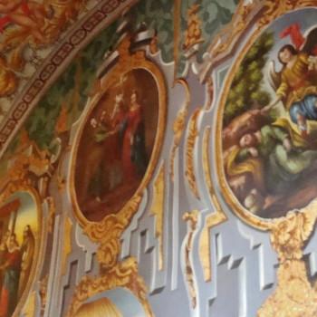 Фрески в соборе Санта Круз в Сантьяго де Керетаро