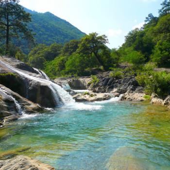 Водопады Чипитин в Мексике. Штат Нуэво Леон