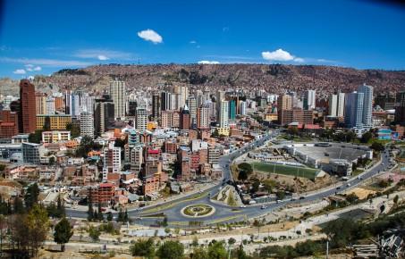 Вид на замечательный город Ла Пас в Штате Южная Нижняя Калифорния