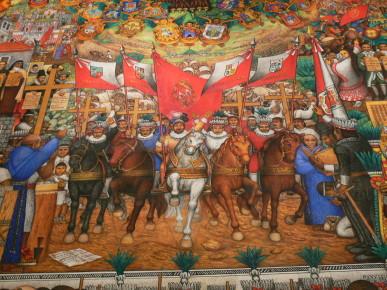 Революция воплощенная на стенах музея истории в Тласкале