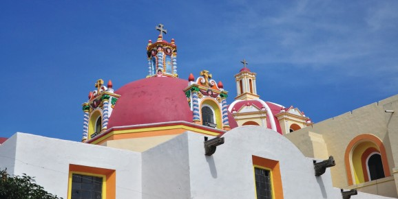 Сан Луис Обиспо - один из красивейших храмов в Уамантле. Мексика