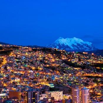 Вечер застал город Ла Пас в своей безумной красоте