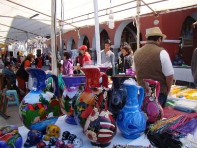 Рынок гончаров-ремесленников в Тласкале