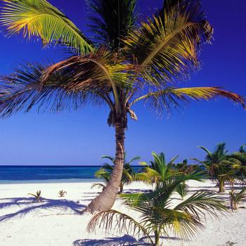 Чудесный пляж Акумаль в Мексике