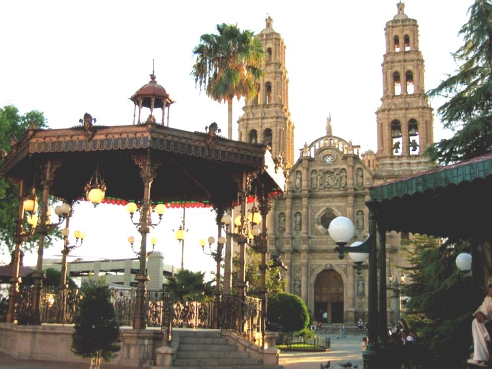 Кафедральный Собор на площади Плаза де Армас в городе Чиуауа