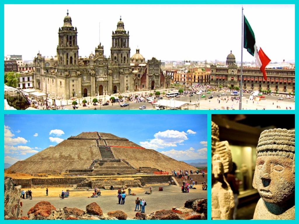 Экскурсия по Мехико сити с посещением центральной площади Сокало, Национального антропологического музея и пирамид Солнца и Луны в Теотиуакане