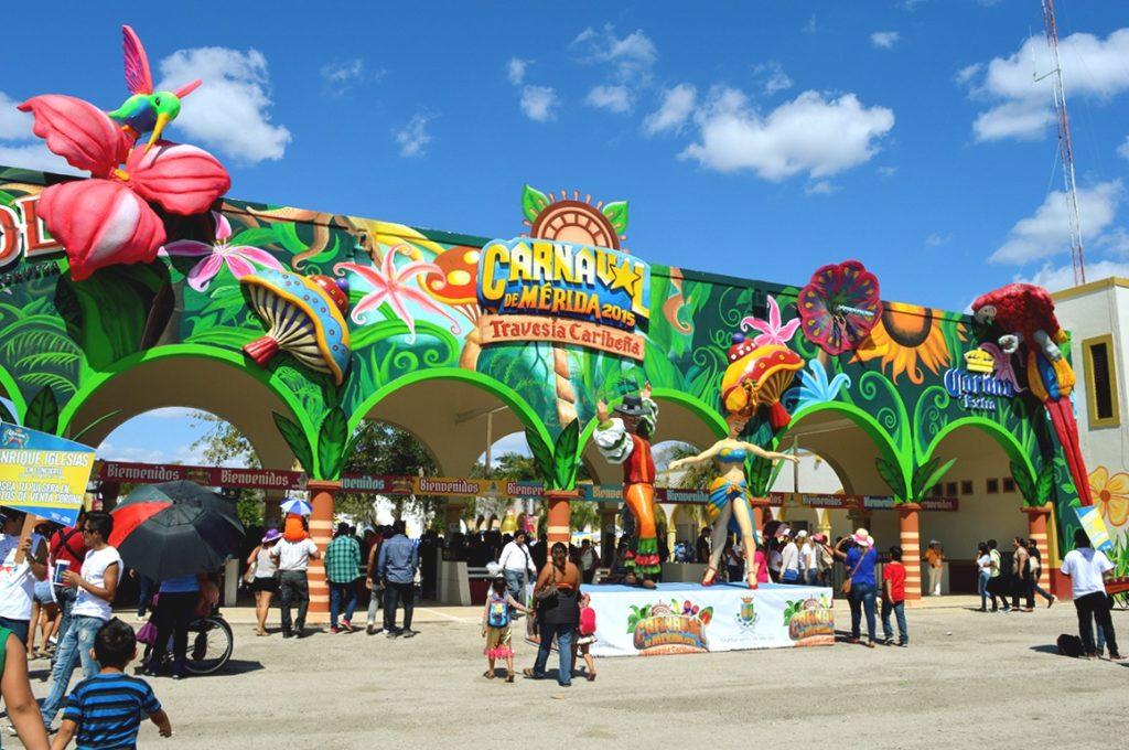 Карнавал 2015 в мексиканском городе Мерида, штат Юкатан
