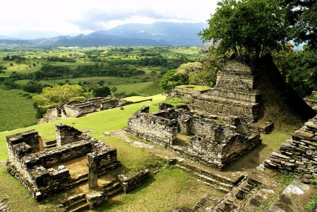 Раскопки руин древней цивилизации майя, город Тонина, Мексика