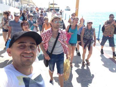 Встречаем больше группу на острове Косумель. Экскурсия с острова Косумель на материк