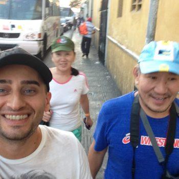 С гостями их Бурятии на экскурсии по Юкатану