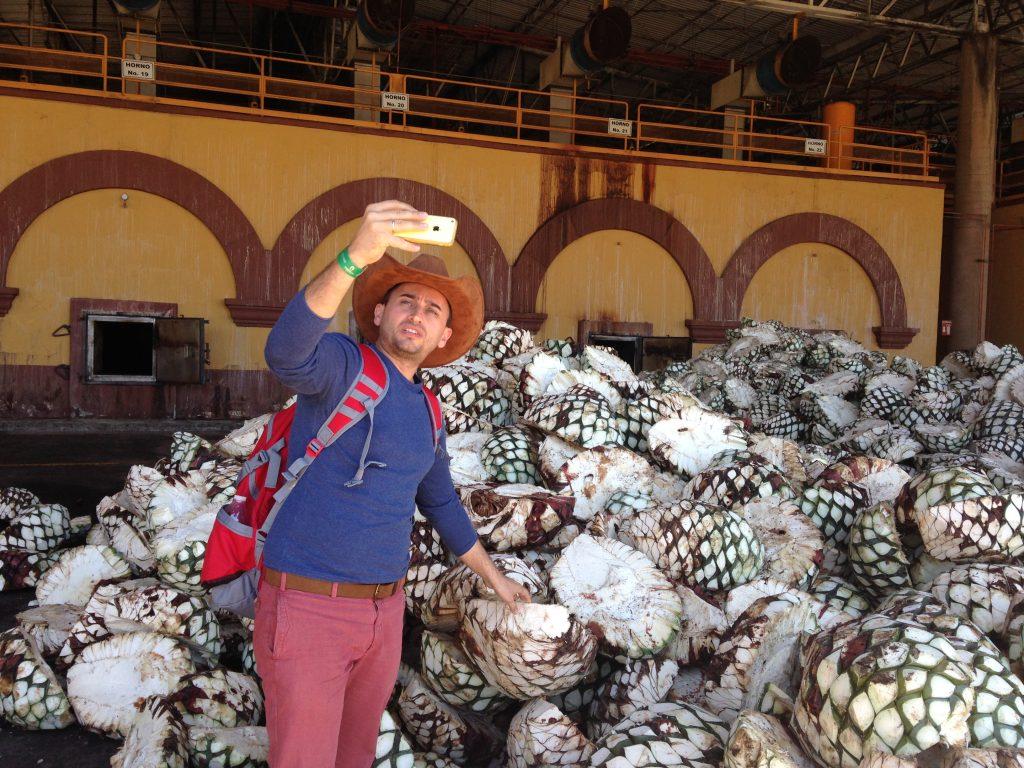 """Арсен и """"пинья"""" агавы на фабрике текилы Херадура"""