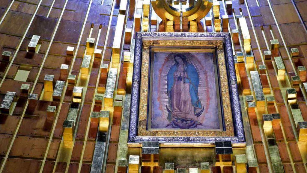 Плащаница с изображением Девы Марии Гваделупской