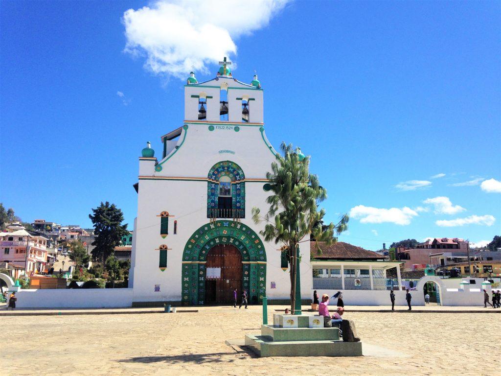Главная площадь Сан Хуан Чамула