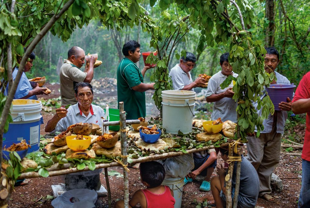 церемония жертвоприношений майя