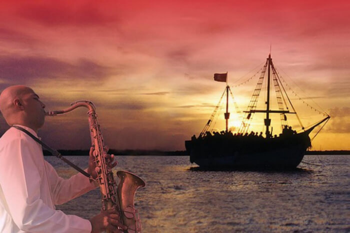 Романтический ужин на яхте в Мексике